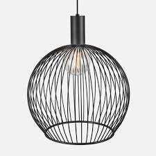 nordlux dftp aver 13 black wire cage pendant light lampsy wire basket pendant light