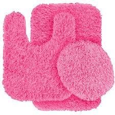 pink bathroom mat