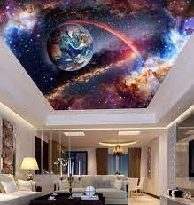 Outer Space 3D Ceiling Wallpaper Murals ...