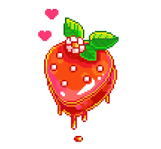 Image result for strawberry pixel art