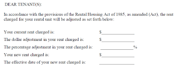 Notice Of Rent Increase Form A Letter To The Editor Dcs Office Of The Tenant Advocate