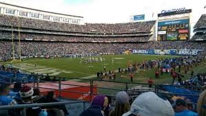 Sdccu Stadium Section P27 Home Of San Diego Chargers San