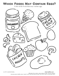 Food Coloring Pages For Kids At Getdrawingscom Free For Personal