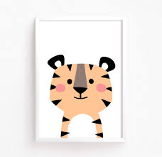 Printable Room Decor Printable Baby Tiger Kitty Baby Room Decor Instant Download Kids