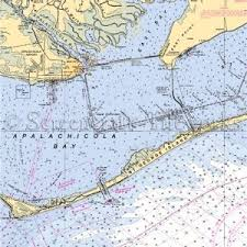 Florida Depth Chart Florida Apalachicola Nautical Chart Decor In 2019
