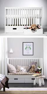The STUVA crib converts to a toddler bed, making the transition from baby  to big
