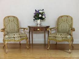 mini doll house furniture. store pair of gold chairs mini doll house furniture i