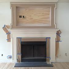 Built-in TV mantle is coming together #amdprogress