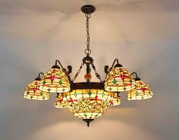 image is loading chandelier stained glass lamp ceiling pendant light