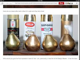 best spray paint for furnitureLaura Thoughts Gold Spray Painted Shells