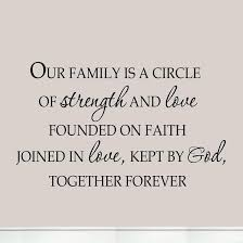 Quotes About Family Love Gorgeous Our Family Is A Circle Of Strength And Love Founded On Faith Joined