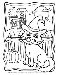 Mama cat playing with her baby cat. Halloween Coloring Pages Easy Peasy And Fun