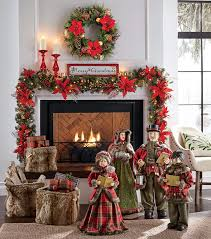 how to hang garland on your mantel