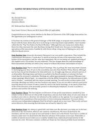 Sample Informational Letter For New Elected Hoa Board Members