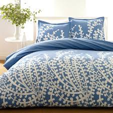 blue and tan bedding
