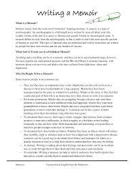 Examples Of Memoir Essays Rome Fontanacountryinn Com