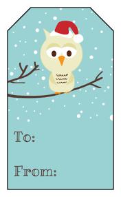 Holiday Gift Tag PrintableChristmas Gift Tag Design