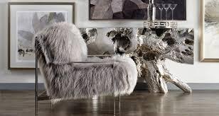fur decor furniture faux fur mongolian lamb z gallerie