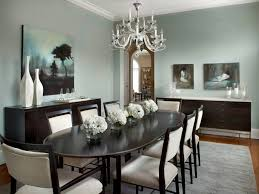 transitional dining room with white chandelier