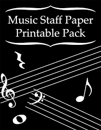 Printable Music Staff Music Staff Paper Printable Pack Warm Hearts Publishing