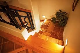 indoor stair lighting. image of low voltage indoor stair lighting