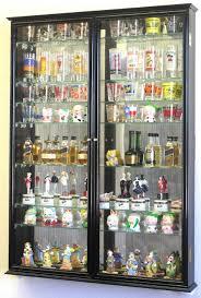 xl shot shooter glass display case cabinet rack holder mirror back shotglass