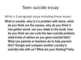 week  teen suicide essay<br