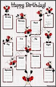 Birthday Reminder Chart Birthday Chart For Classroom New Classroom Design Template