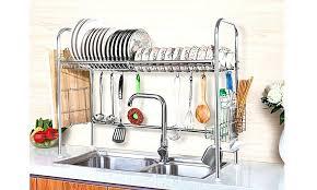 countertop dish rack stainless steel 1 tier stainless steel dish rack drainer nonslip height adjustable with countertop dish rack