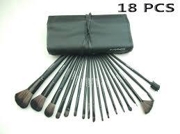 mac cosmetics brush 18pcs black