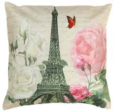 wholesale 18 x 18 inch decorative eiffel tower flowers print