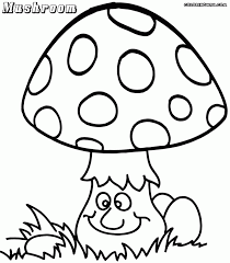 colouring pages psychedelic super cute mushroom