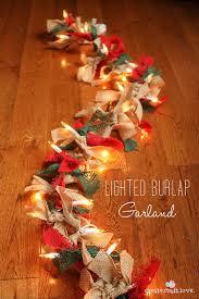 diy christmas lighting. 5. Rustic Chic Burlap Garland Diy Christmas Lighting