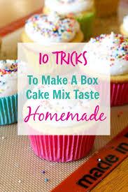 10 Tricks To Make A Box Cake Mix Taste Homemade All Things Mamma