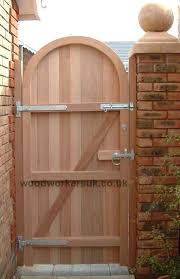 arched wooden gate