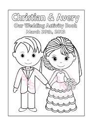 printable personalized wedding coloring activity by sugarpiestudio