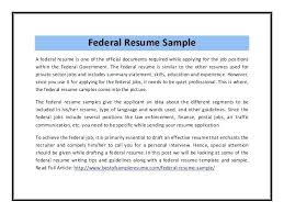 Federal Resume Format Resume Template Ideas