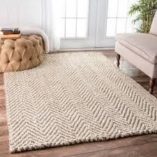 handmade nuloom eco natural fiber jute chevron ivory rug 8 6 x 11 throughout
