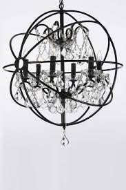 great black sphere chandelier chandelier foucaults orb clear crystal chandelier chrome orb