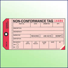 Non-Conformance Tag 3 Part - Kenmore Label & Tag