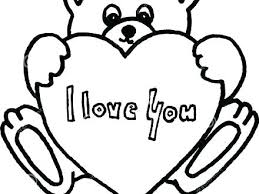 Teddy Bear With Heart Coloring Pages Teddy Bears Color Sheets Free