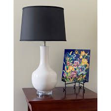 ivory porcelain midcentury modern vase  microsun lamps
