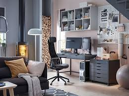 Image Shelves Keep Calm And Game On In Your Home Office With Ergonomic JÄrvfjÄllet Dark Grey Swivel Armchair Ikea Home Office Furniture Ideas Ikea Ireland Dublin