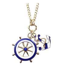 tonsee navy blue wind anchor pendant necklace new ck12202ulxd