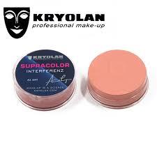 kryolan supracolor interferenz 8 ml small size blush long lasting german brand blusher cheek makeup blush cream contour
