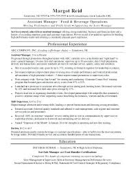 Monster Resume Template Assistant Manager Resume Sample Monster With