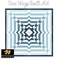Time Warp Quilt Kit from Northcott | Fort Worth Fabric Studio & Time Warp Quilt Kit from Northcott Adamdwight.com