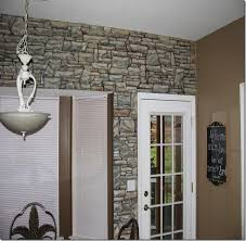 painted stone wallCREATIVE AMBITIONS Painted Faux Stacked Stone Wall