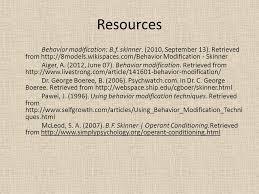 behavior modification can behaviors be modify b f skinner ppt  resources behavior modification b f skinner 2010 13