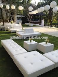 Outdoor wedding furniture Garden French Outdoor Wedding White Leather Seating Bench Alibaba Outdoor Wedding White Leather Seating Bench Buy Indian Wedding